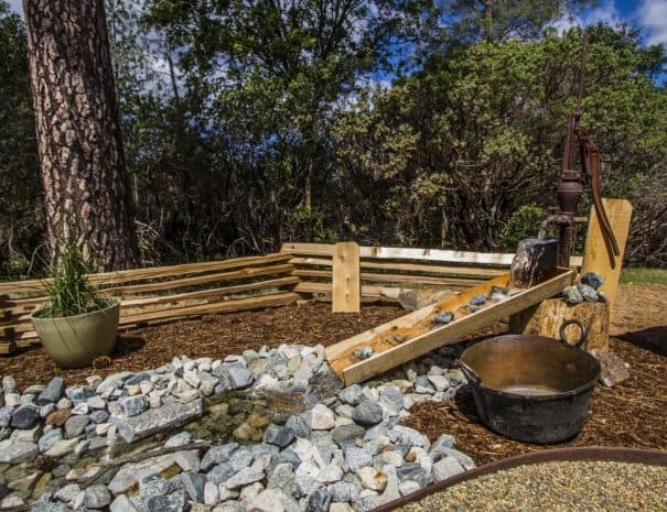 Black Oak Bed and Breakfast Water Pump and Water Fall